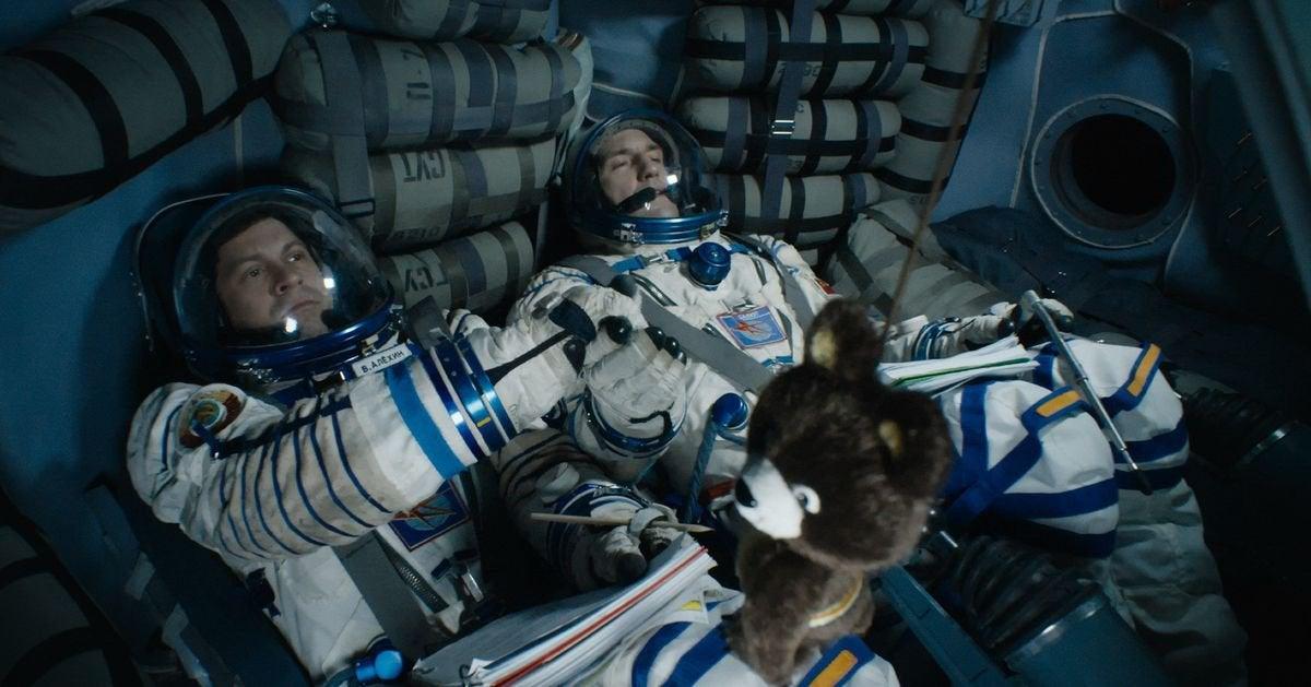 อวกาศของรัสเซีย Salyut-7 เป็นภาพที่น่าสนใจสำหรับความกล้าหาญในภาพยนตร์